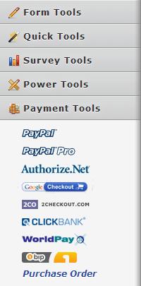 Payment tools in jotform