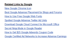 Related links by google