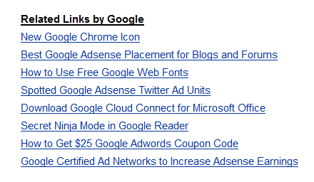 Show related post with Google Related Links.