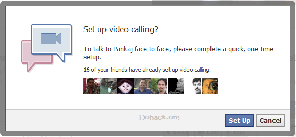 Set up video calling in Facebook