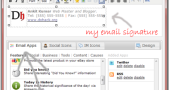 Add Email Signature to Gmail or any Email client