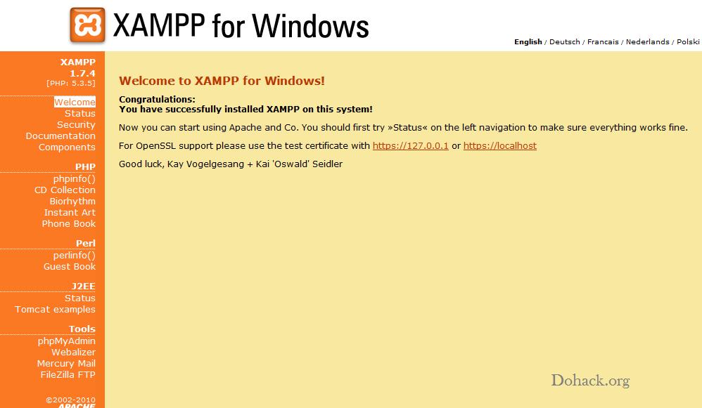 Xaamp for Windows