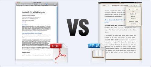 Pdf vs ePub